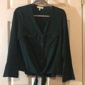 Green long sleeve button up
